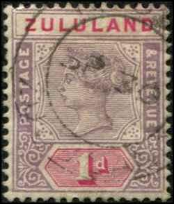 Zululand SC# 16 Victoria 1d Used