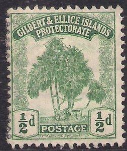 Gilbert & Ellice Islands 1911 KGV  1/2d Green Pandanus Pine MM SG 8  ( B541 )