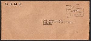 COOK IS 1972 Local Rarotonga official cover : Education Dept frank........14907W