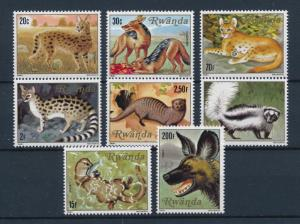 [60190] Rwanda 1981 Wild animals Jackal Cat Wild dog MLH