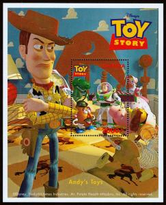 Uganda Scott 1483 (1997) Toy Story Souvenir Sheet, Mint NH VF C