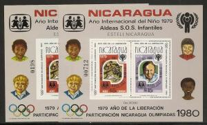 Nicaragua Unlisted 1979 1980 Child Year Olympics s.s. Per...