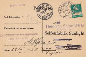 Switzerland 1928 Advertising Salesman's Order List for Soap Products.Commercial