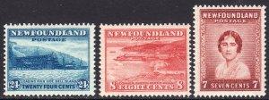 1932 Newfoundland Canada complete set MNH Sc# 208 / 210 CV $7.75