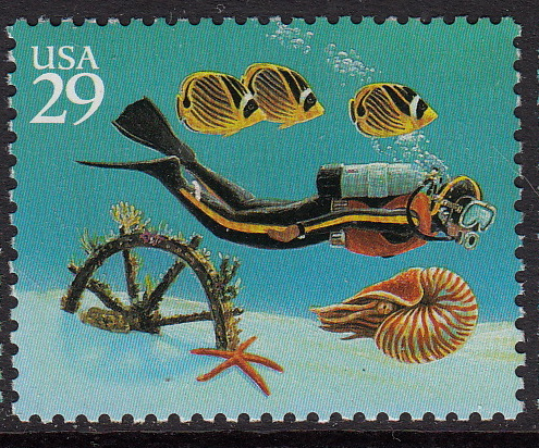 United States #2863-2866 Under the Sea, Set of 4, Please See Description