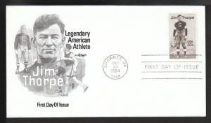 U.S. 2089 Jim Thorpe 1984 Artmaster U/A FDC