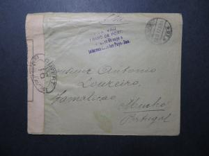 France 1917 POW Cover to Portugal / Light Creasing - Z11375