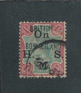 SOMALILAND OFFICIAL 1903 1r GREEN & CARMINE FU SG O5 CAT £750
