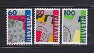 Switzerland 925-927 Set MNH Stamps on Stamps (A)