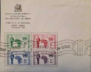 O) 1958 ETHIOPIA, AFRICA AND UN, 1st SESSION OF THE UN ECONOMIC CONFERENCE FOR A