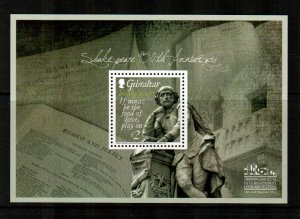 Gibraltar #1462  MNH  Scott $6.75   Souvenir Sheet