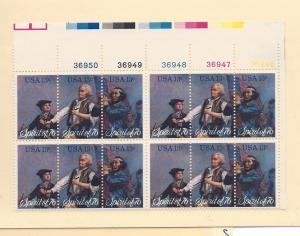 United States, 1629-31, Spirit 1976 Plate Block (10), MNH