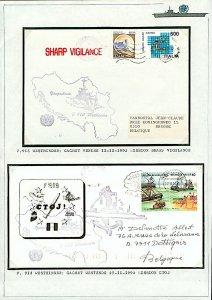 Belgium 1992 Maritime Naval covers 913 Westhinder Cachet Venice (2v) VFU