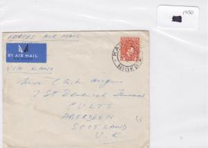 Nigeria 1950 stamps cover Ref 8699