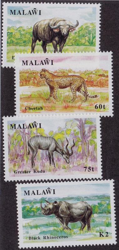 MALAWI MH Scott # 582-585 Wild Animals - remnants (4 Stamps)