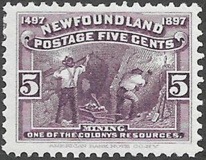 Newfoundland Scott Number 65 F H
