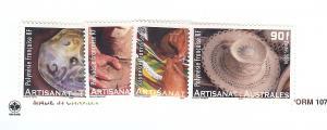 French Polynesia, 874-77, Handcrafts Singles, MNH