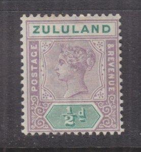 ZULULAND, 1894 QV 1/2d. Dull Mauve & Green, lhm.