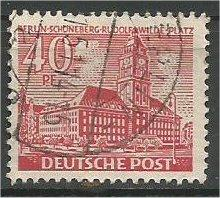 BERLIN, 1949, used 40pf Buildings Scott 9N52