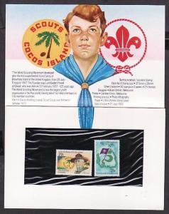Cocos Islands, Scott cat. 85-86. 75th Anniversary issue, Presentation Pack.