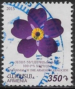 Armenia 1031 Used - Forget Me Not - Centennial of the Armenian Genocide