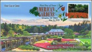 20-120, 2020, American Gardens, Digital Color Postmark, First Day Cover, Biltmor