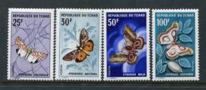 Chad 159-162, MNH, $32.00. Michel 209-210. Butterflies 1968. x24059