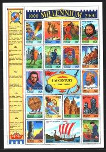 Togo. 1999. Small sheet 2906-22. Millennium, history, Rossica, Prince Yarosla...
