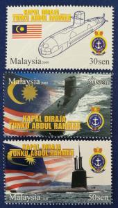 Malaysia Scott # 1266-8 1st Malaysian Submarine Stamps Set MNH