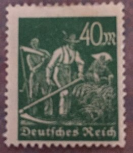 German Empire inflation issues,1922, 40 Mk. Greenish olive 1922, unused with st