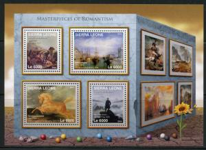 SIERRA LEONE 2016 MASTERPIECES OF  ROMANTISM  SHEET MINT NEVER HINGED