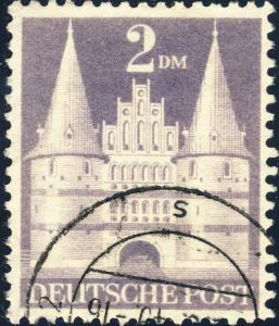 ALLEMAGNE / GERMANY Bizone 1948 Mi.98.YIIB(98.IIwg) 2DM T.2 p.11 - VF Used (d)