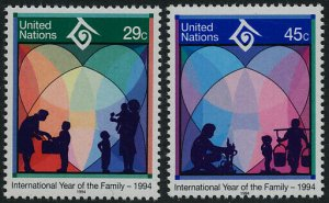United Nations - New York 637-8 MNH Year of the Family