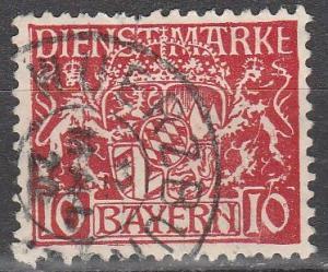 Bavaria #O10 F-VF Used  (S7278)