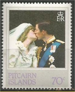 PITCAIRN ISLANDS, 1982, MNH 70c, Royal Wedding Scott 215