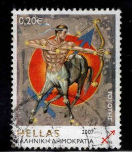 Greece Scott 2311 Used Sagittarius 2007 stamp