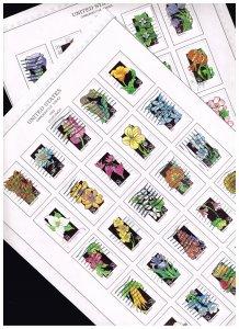 US STAMP #2647-96 – 1992 29c Wildflowers USED STAMPS SET