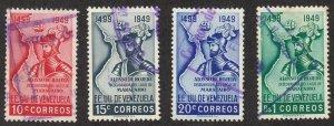 Venezuela - 1950 - SC 446-49 - Used - Short set