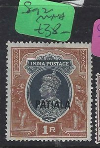 INDIA PATIALA   (P2107B)   KGVI 1R  SG 102   MNH