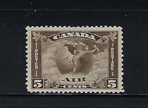 CANADA SCOTT #C2 1930  AIR MAIL 5 CENT (OLIVE BROWN) - MINT   HINGED