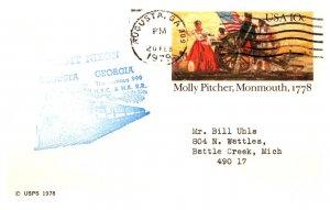 United States, Georgia, United States Government Postal Cards, Trains
