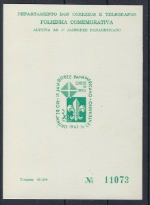1965 Brazil Scouts Jamboree souvenir card Jamboree