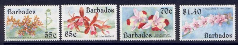 Barbados 826-9 MNH Orchids, Flowers
