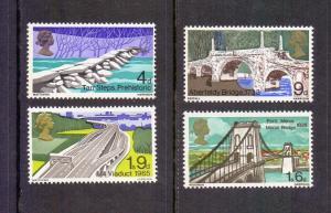 Great Britain  #560-563  1968 MNH British bridges complete