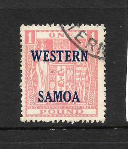 SAMOA  1955  1pound  ARMS    FU   SG 234