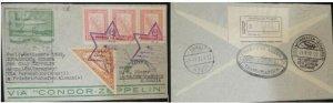 A) 1932, PARAGUAY, CONDOR ZEPPELIN, FROM ASUNCION TO GERMANY, BY PERNAMBUCO BRAZ