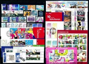 [57145] Netherlands Niederlande 2001 Complete Year Set Incl definitives Used CTO
