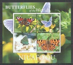NW729 2020 NIUAFO'OU BUTTERFLIES !!! SALE FLORA & FAUNA KB MNH