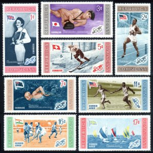 Dominican Republic 501-505,C106-C108,MNH.Olympics,Melbourne.Winners & Flags,1958