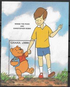 Ghana MNH S/S 1803 Winnie The Pooh & Robin SCV 4.50